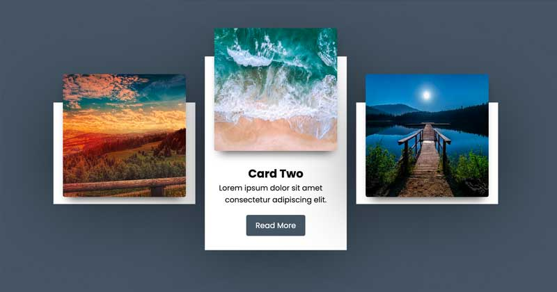 Cards Hover Animation with CSS Flexbox