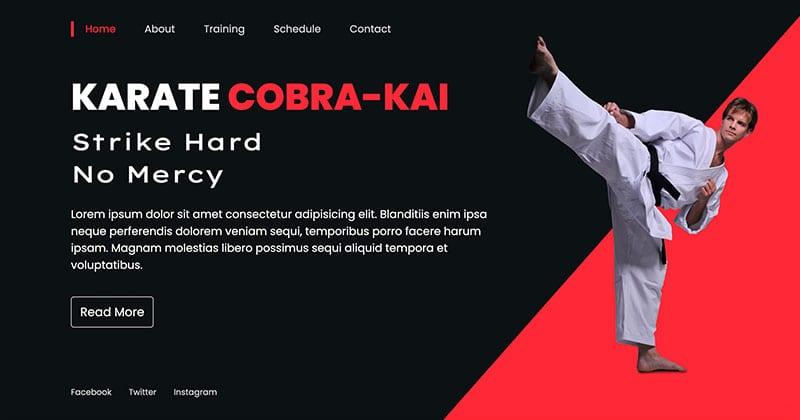 Karate Landing Page